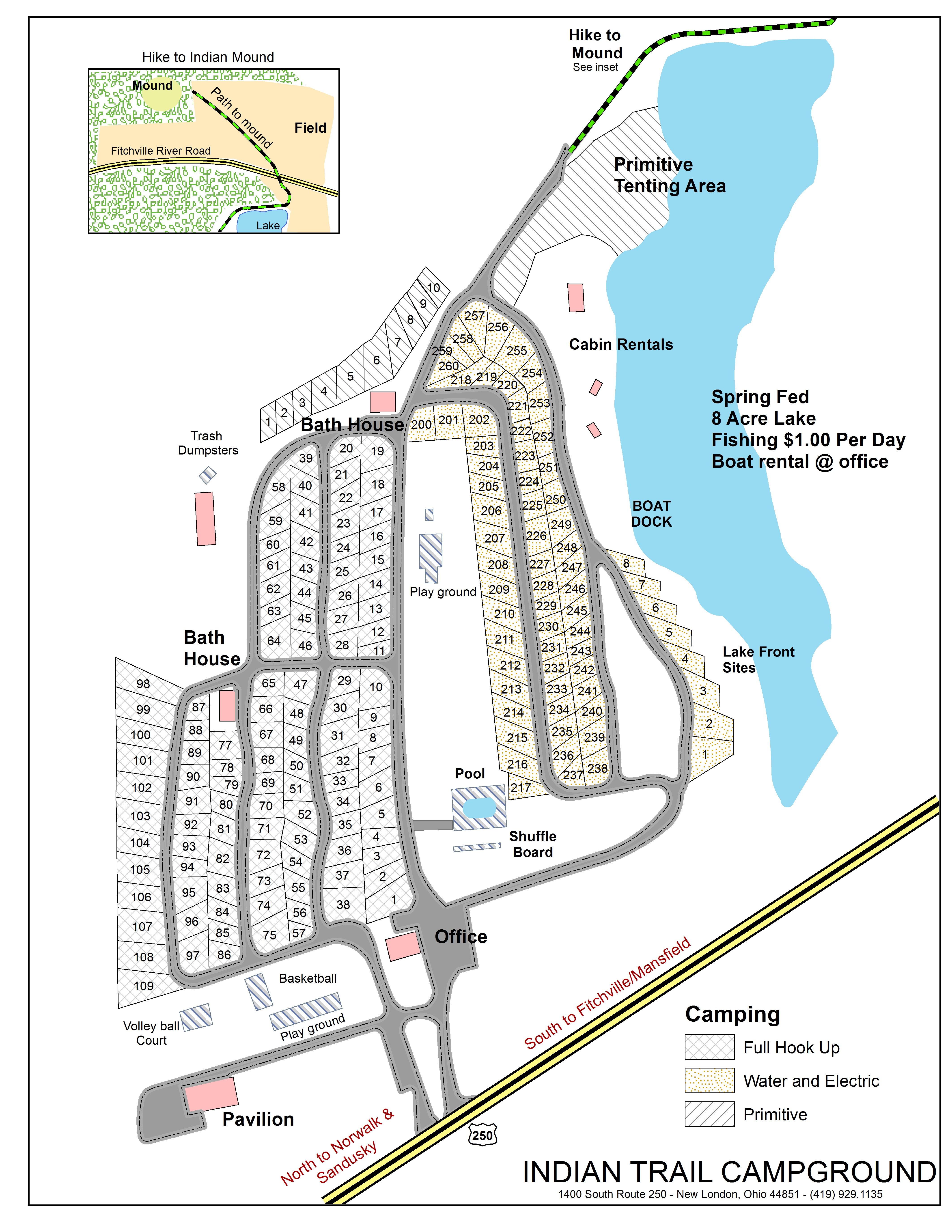 New London Ohio Map.Indian Trail Campground Home
